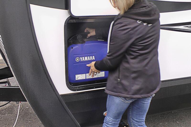 Portable Generator into Storage Compartment